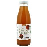 Jus de fruits bio à la pomme et la rhubarbe en bouteille de 75cl