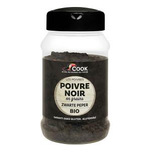 Poivre noir en grains bio Cook - 200g